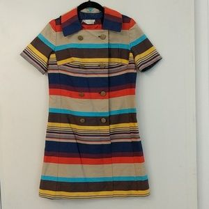 60sVINTAGE rainbow sailor dress